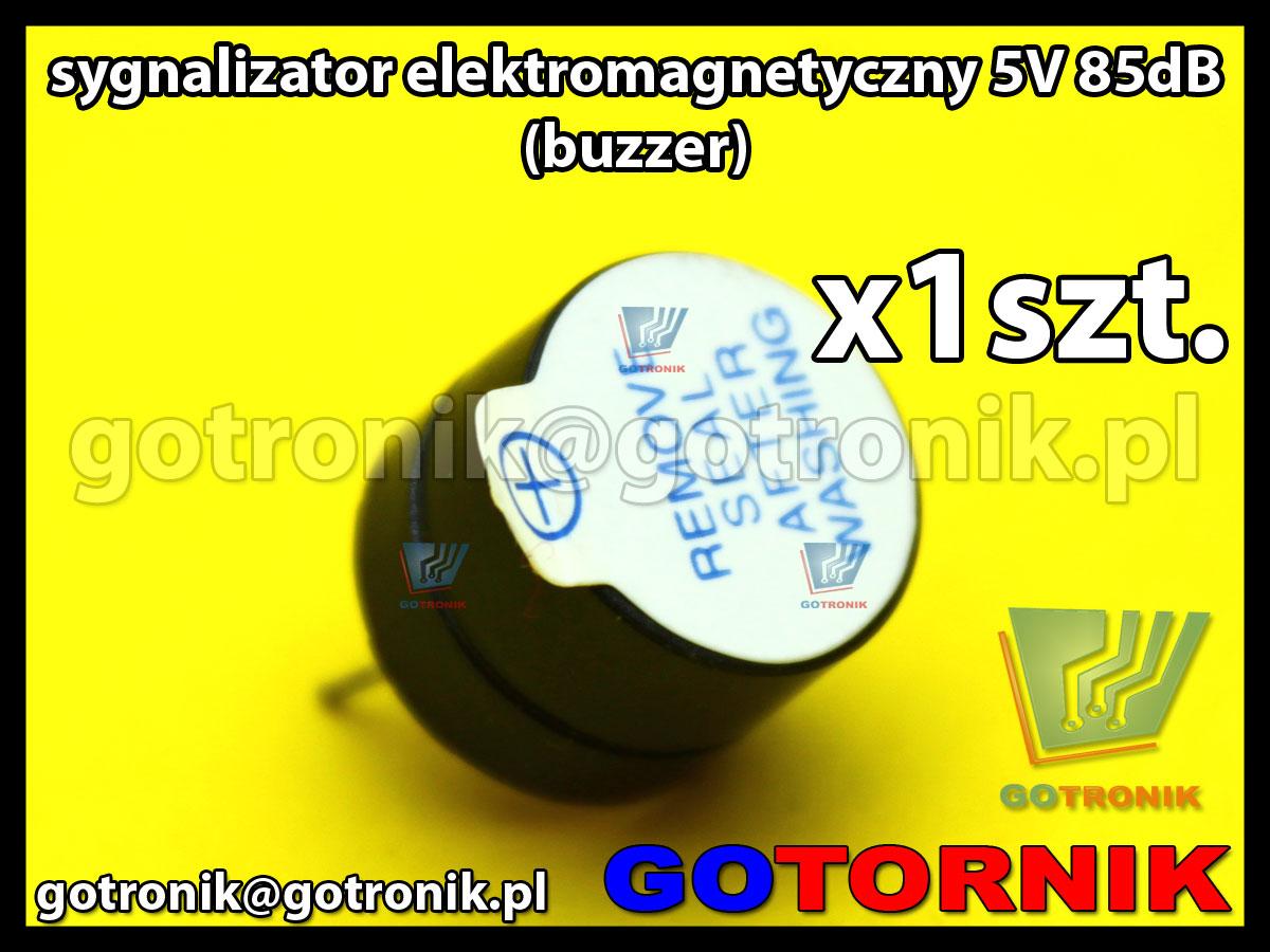 buzzer sygnalizator elektromagnetyczny 5V 85dB
