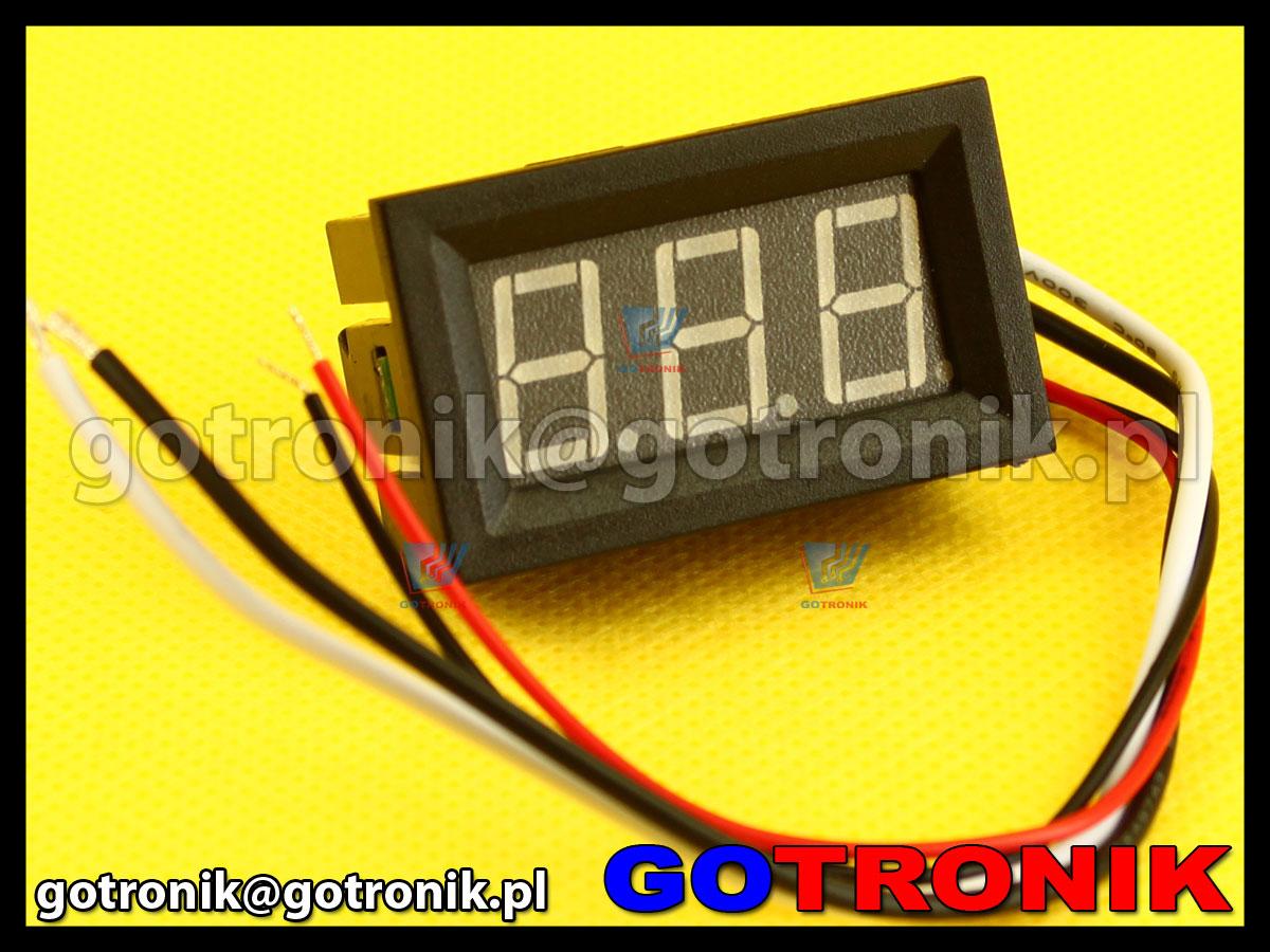 amperomierz panelowy cyfrowy LED 0-9,99A w obudowie C27 10A