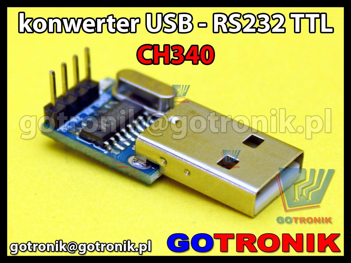 Konwerter USB - RS232 TTL układ CH340