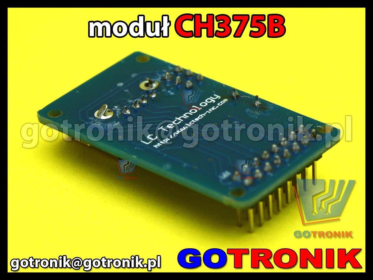 moduł CH375B USB - HOST i tryb USB-DEVICE/SLAVE