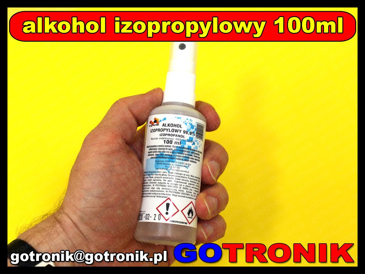 Alkohol izopropylowy 99,9% 100ml atomizer CHEM-015