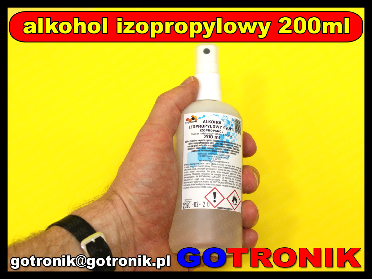 Alkohol izopropylowy 99,9% 200ml atomizer CHEM-017