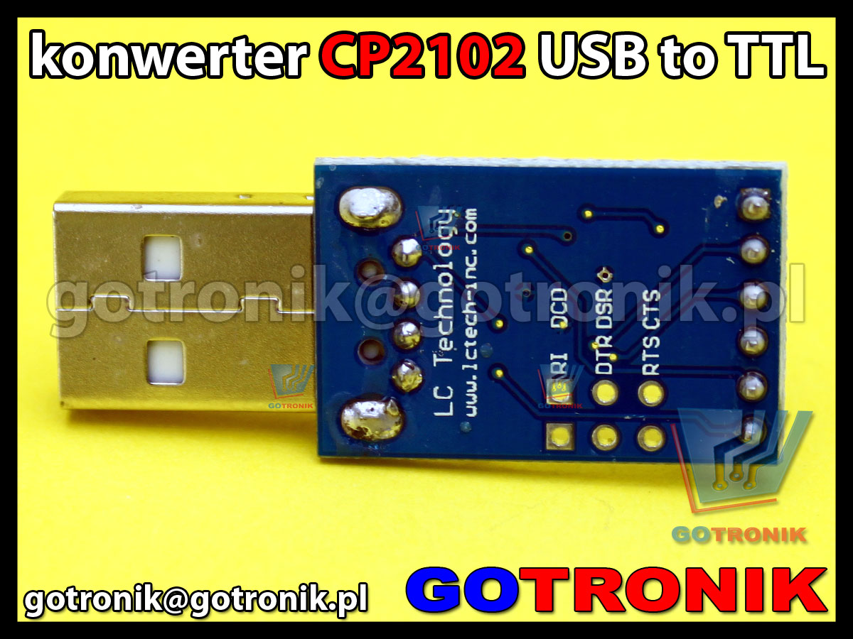 Konwerter USB - RS232 TTL układ CP2102 Silabs