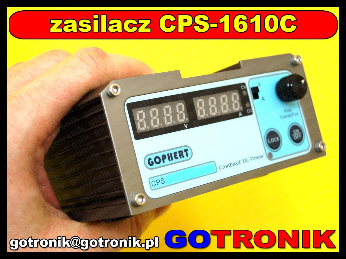 CPS-1610C zasilacz warsztatowy regulowany DC impulsowy 0-10V 0-10A CPS1610 GOPHERT