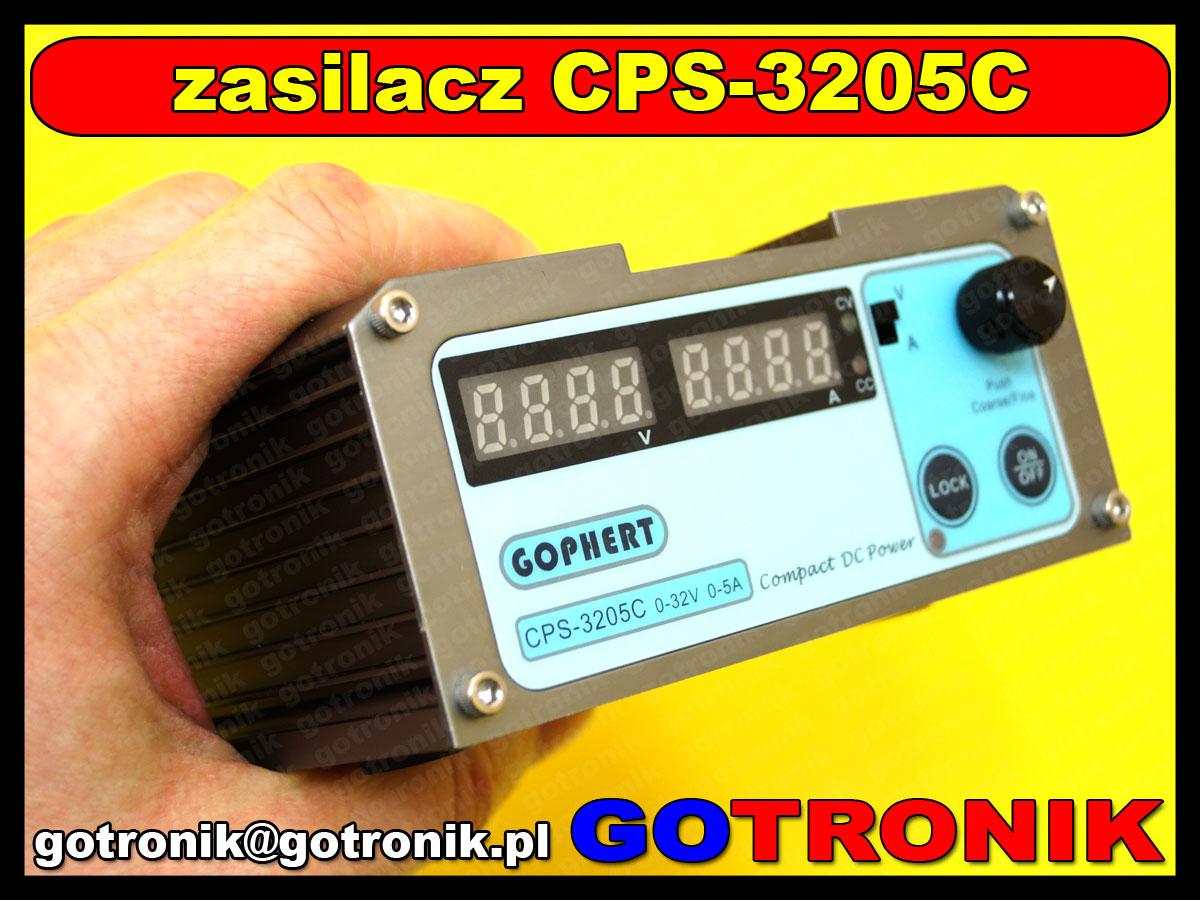 CPS-3205C zasilacz warsztatowy regulowany DC impulsowy 0-32V 0-5A CPS3205 GOPHERT