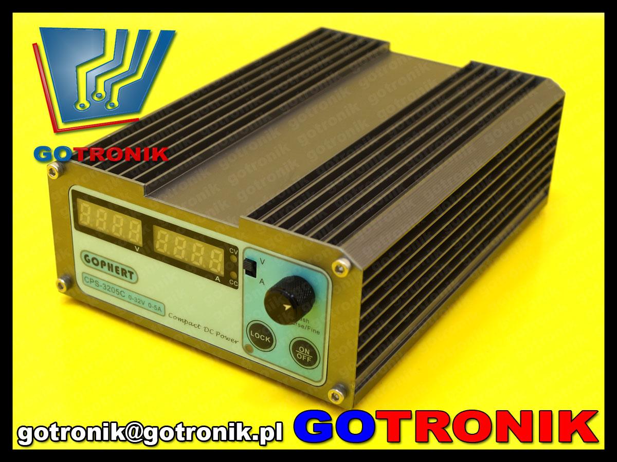 CPS-6003C zasilacz warsztatowy regulowany DC impulsowy 0-60V 0-3A CPS6003 GOPHERT