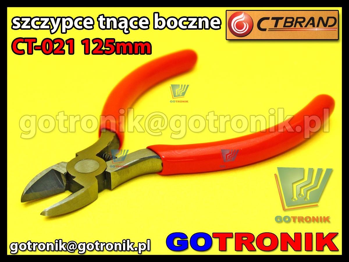 szczypce tnące boczne 125mm CT-021 CT-BRAND obcinaczki obcinarki do elektroniki