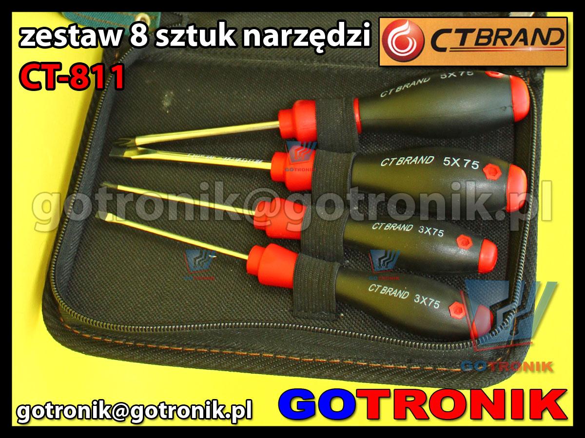 CT-811 CT811 CT-brand zestaw narzędzi przezycyjnych dle elektroniki 8 elementów