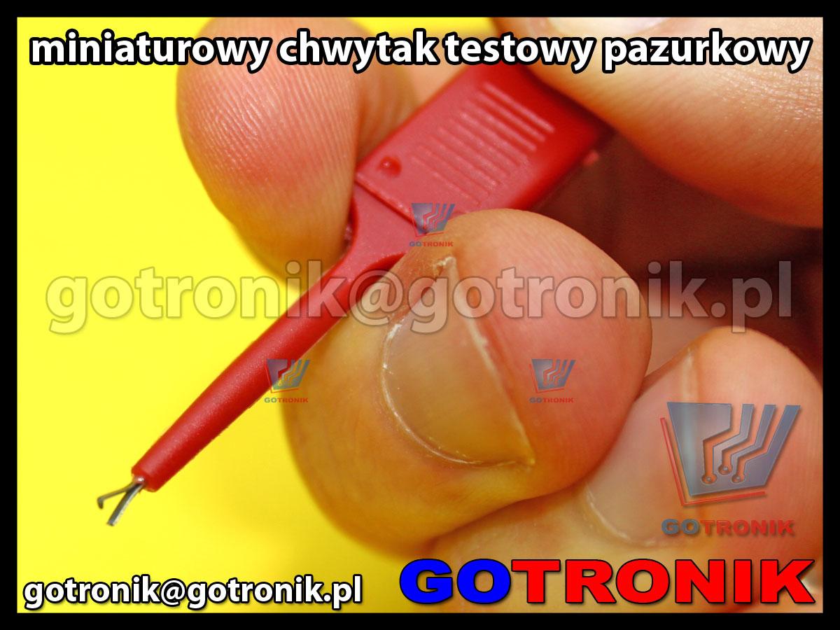 chwytak testowy pomiarowy testowy pazurkowy probierczy do przewodu