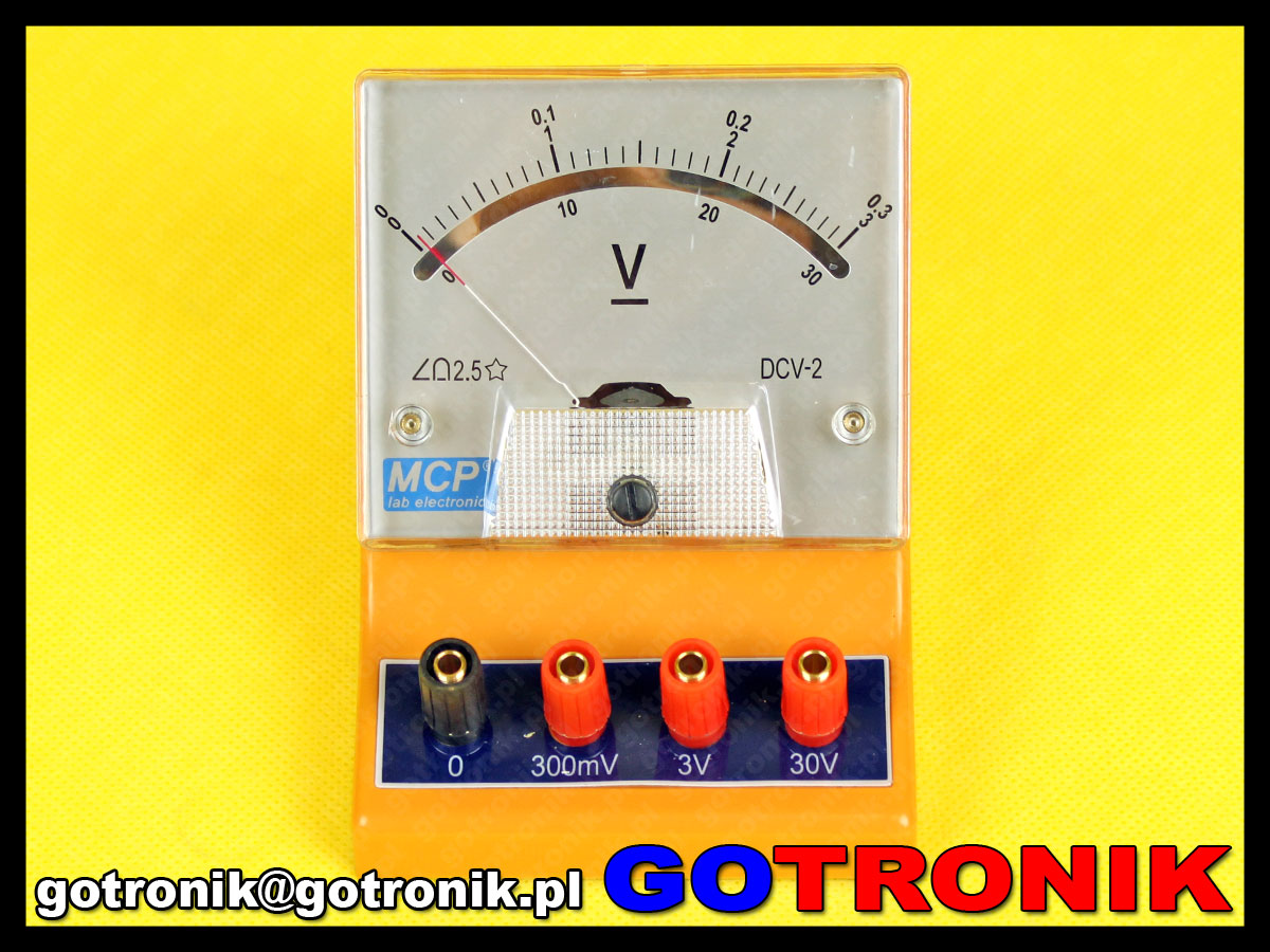 DCV-2 woltomierz analogowy do pomiaru napięcia stałego DC 0 - 30V MCP