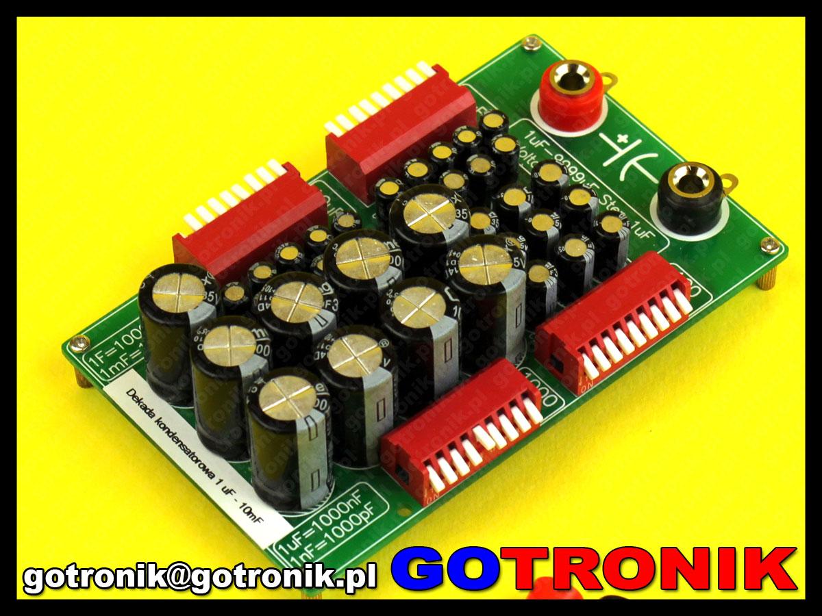 Dekada kondensatorowa 1uF - 10mF pojemnościowa