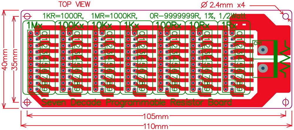 Dekada rezystorowa 0 Ohm - 10M Ohm ELEK-051