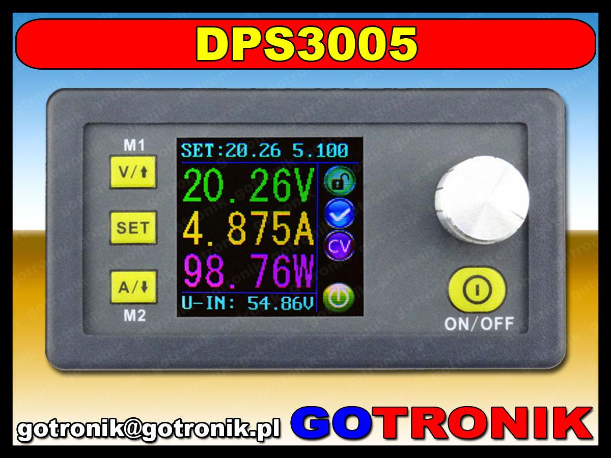 DPS3005 zasilacz przetwornica napięcia dc step down buck obniżająca napięcie 32V 160W 5A LCD BTE-110