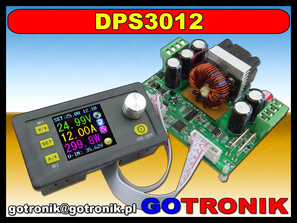 DPS3012 zasilacz ptrzetwornica napięcia dc step down buck obniżająca napięcie 30V 384W 12A LCD BTE-409