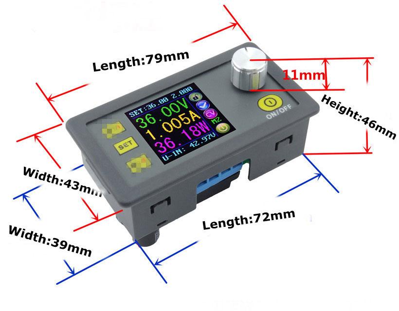 DPS5005 zasilacz ptrzetwornica napięcia dc step down buck obniżająca napięcie 50V 250W 5A LCD BTE-410