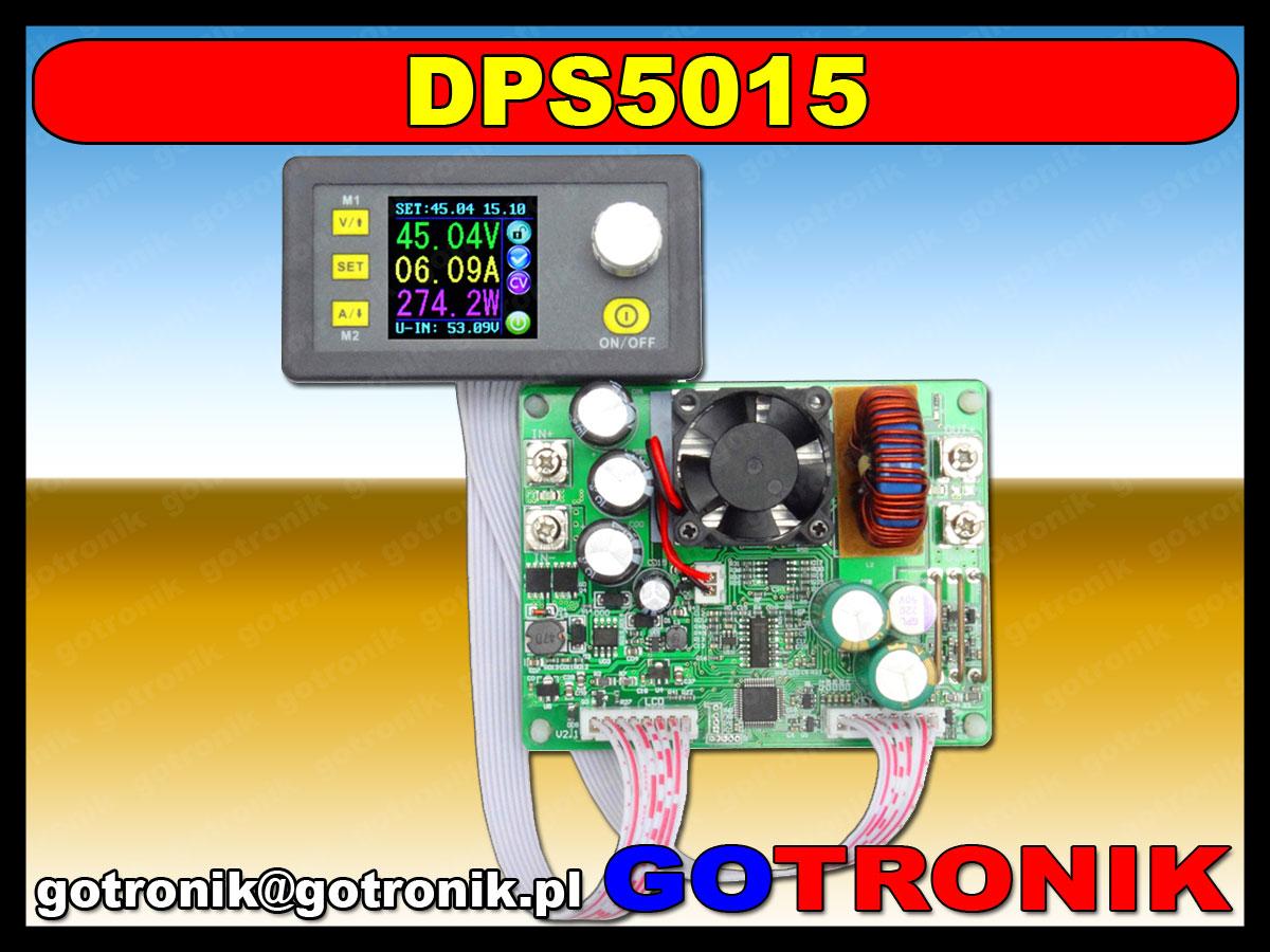 DPS5015 zasilacz ptrzetwornica napięcia dc step down buck obniżająca napięcie 0-50V 750W 12A LCD BTE-408