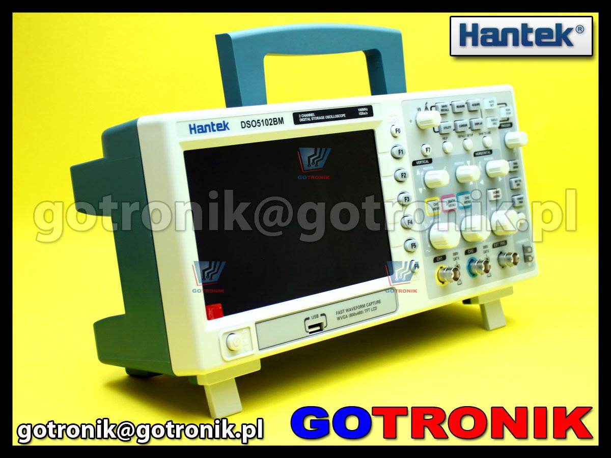 Oscyloskop cyfrowy DSO5102BM Hantek 100MHz