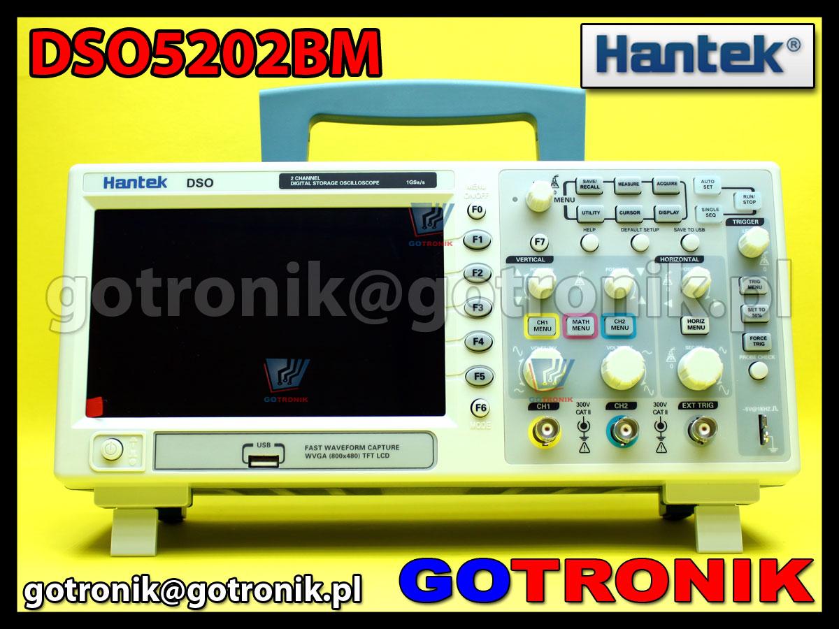 Oscyloskop cyfrowy DSO5202BM Hantek 200MHz