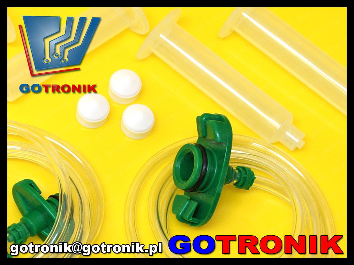 akcesoria zapasowe, igły, strzykawki do dyspensera dozownika ciśnieniowego pasty lutowniczej, fluxu, ELEK-070