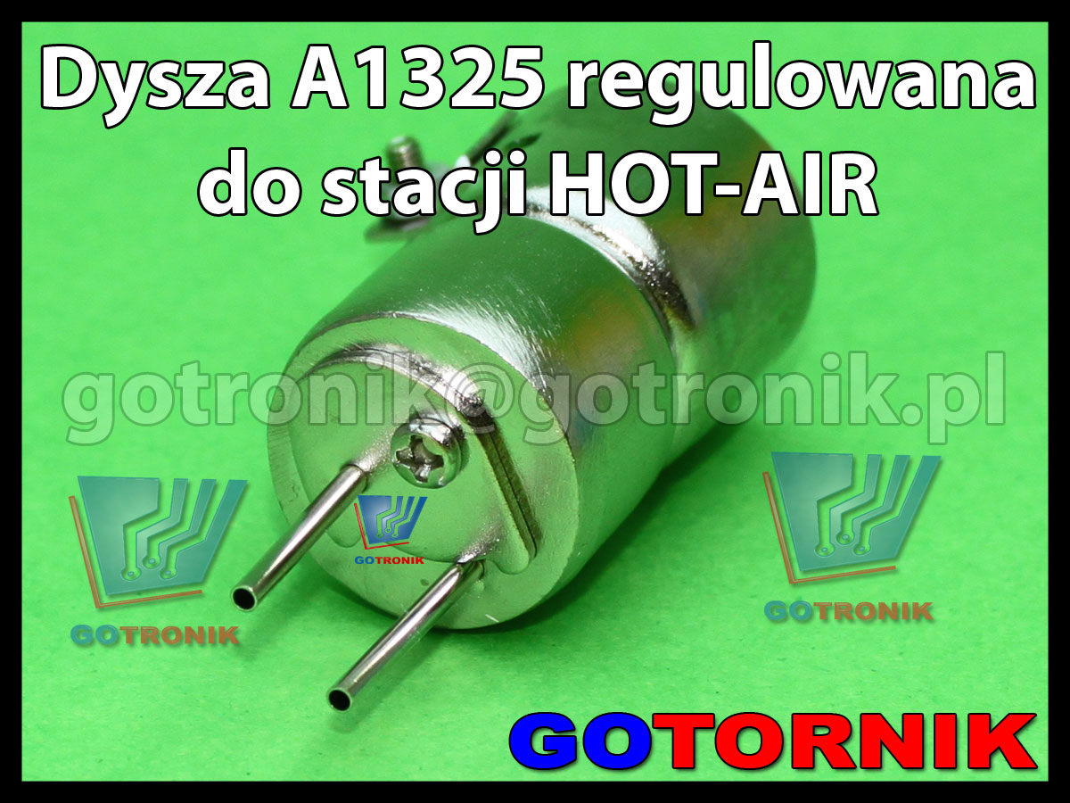 Dysza regulowana A1325 do stacji HOT-AIR podwójna okrągła fi 5,0mm