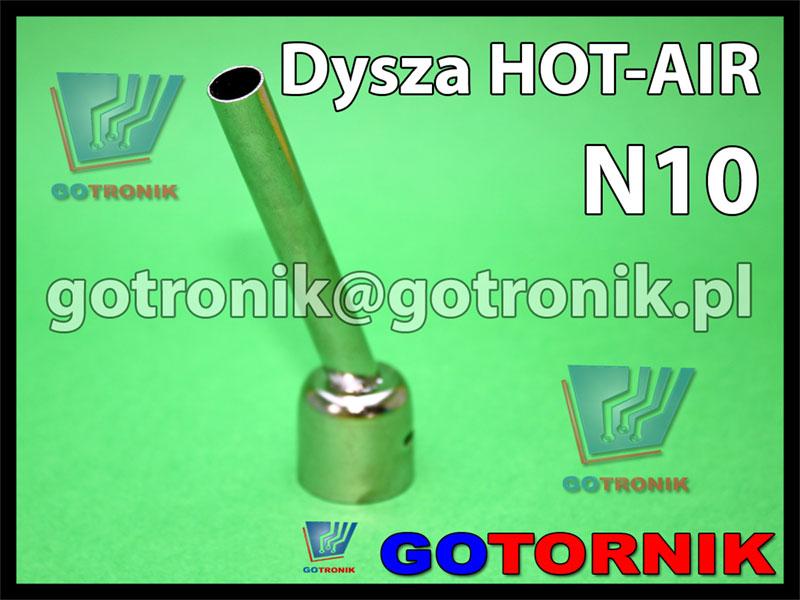 Dysza N10 do stacji HOT-AIR okrągła fi 10,0mm kątowa 45°