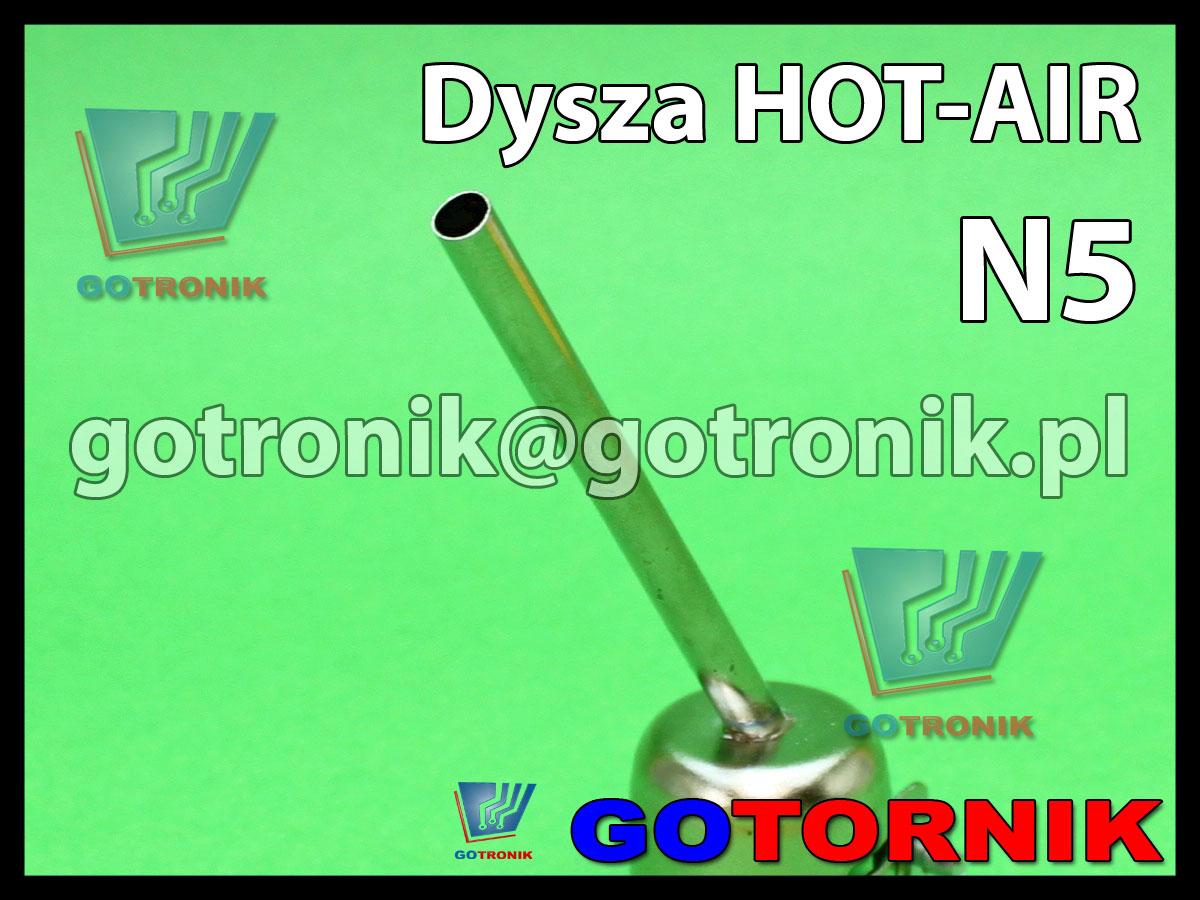 Dysza N5 do stacji HOT-AIR fi 5,0mm kątowa 45°
