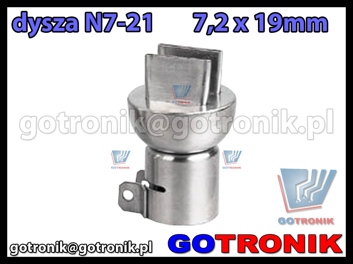 Dysza N7-11 7,2x19mm do stacji HOT-AIR ZD-912 ZD-939 79-3921