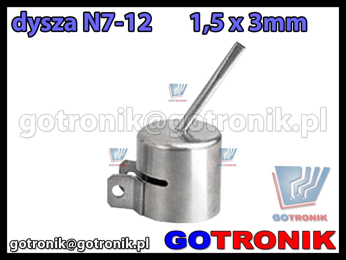 Dysza N7-12 1,5x3mm do stacji HOT-AIR ZD-912 ZD-939 79-3929