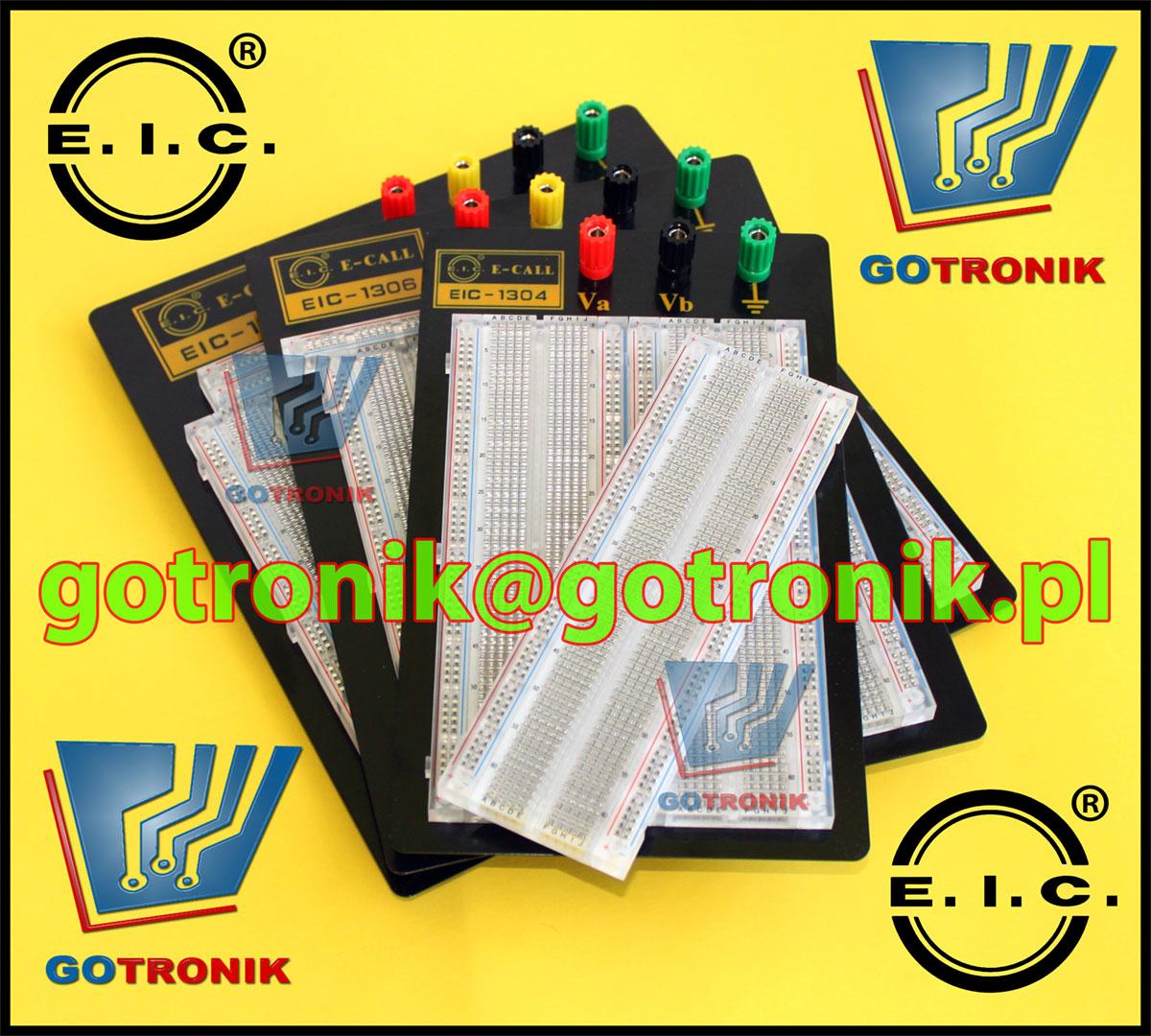 Przeźroczyste płytki stykowe z serii EIC-1308, EIC-1306, EIC-1304, EIC-1302,