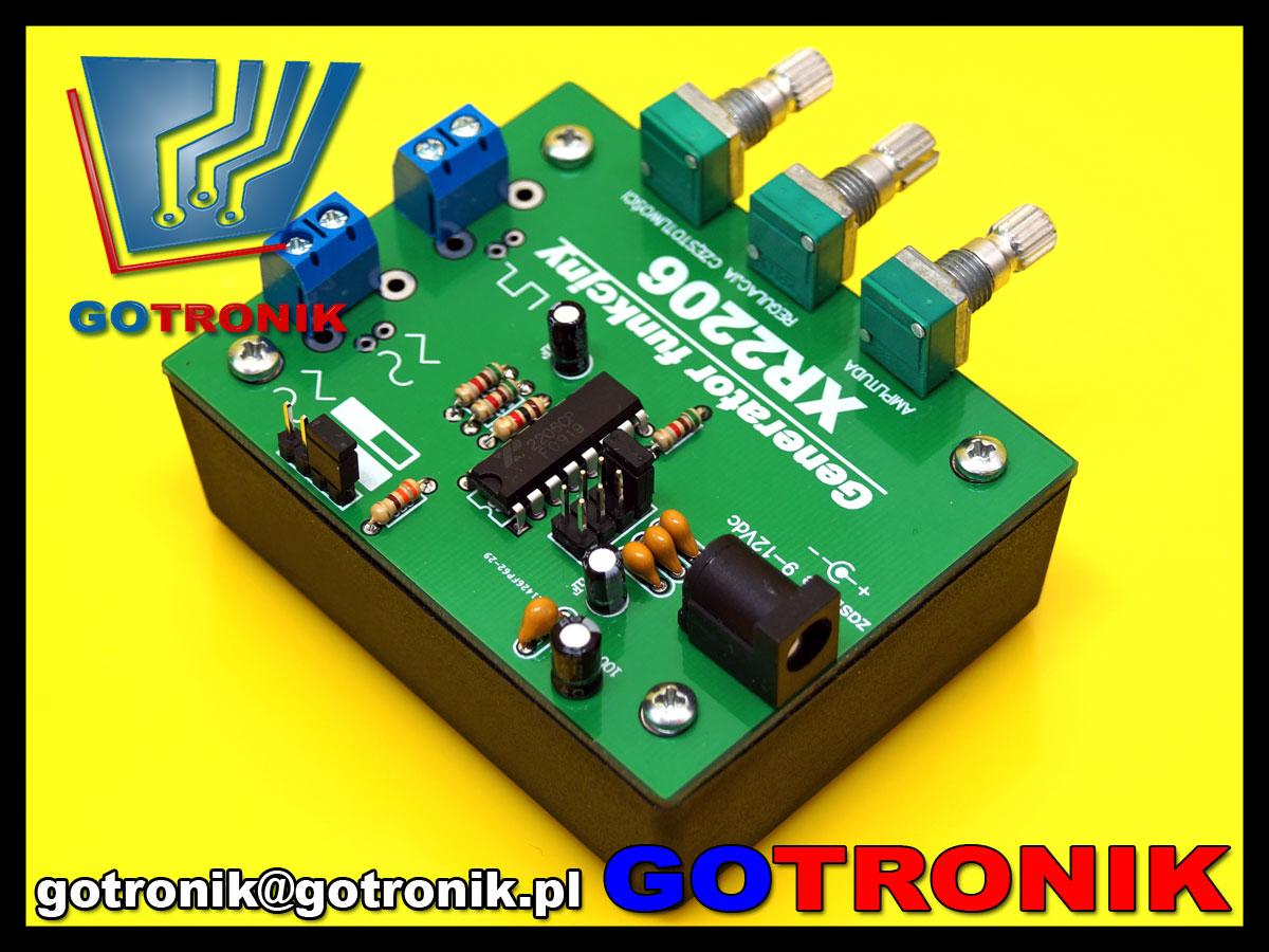 ELEK-057 XR2206 XR-2206 generator funkcyjny przebiegów sin monolithic function generator ELEK057