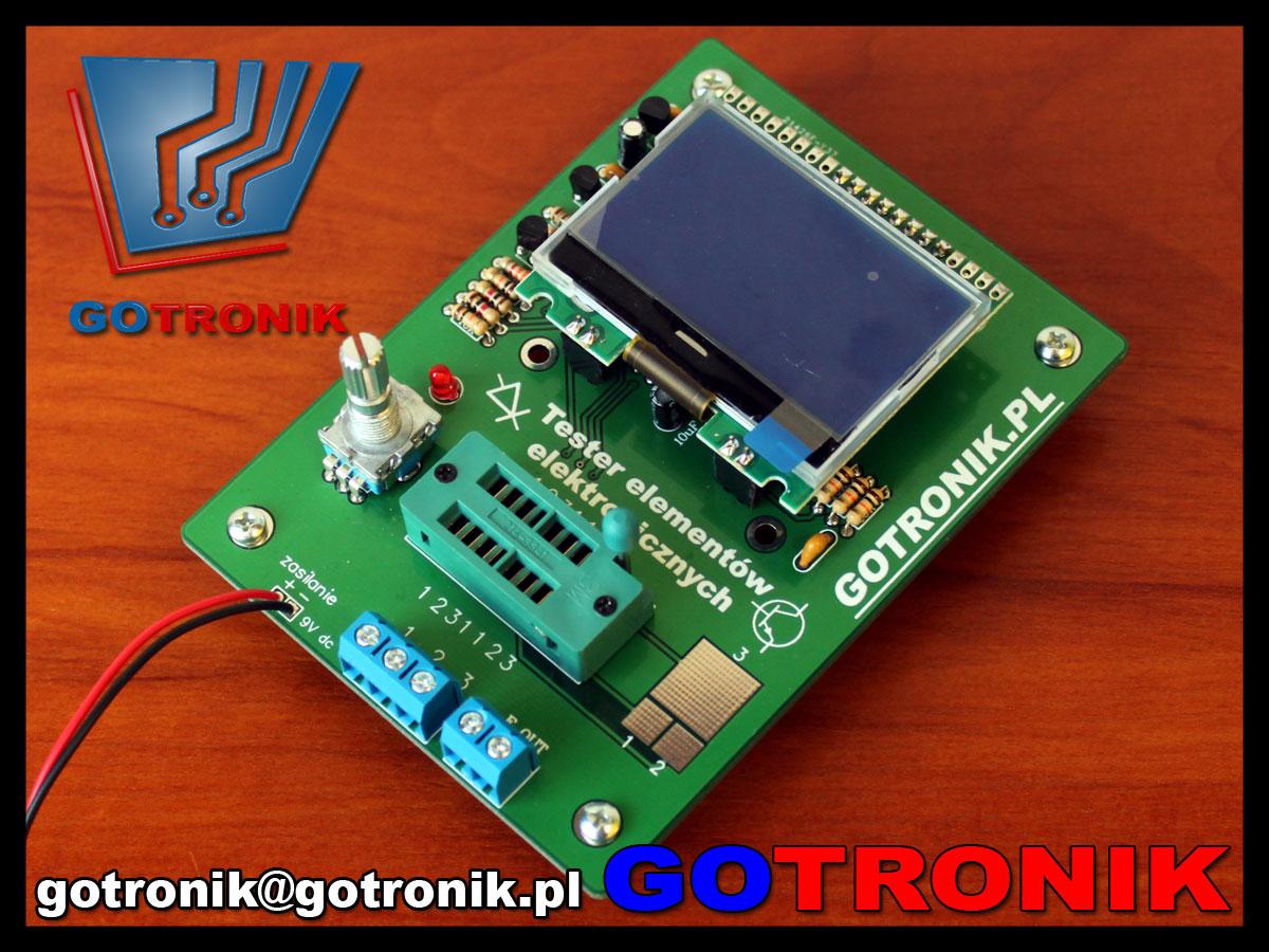 ELEK-058 tester elementów elektronicznych RLC LCR i tranzystorów m328 atmega328