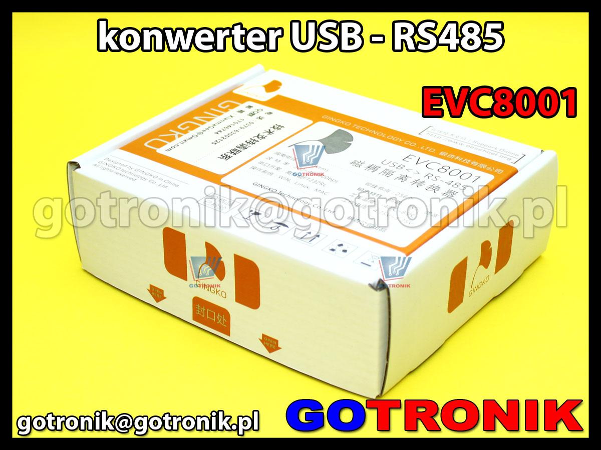 EVC8001 - konwerter USB - RS485 z izolacją