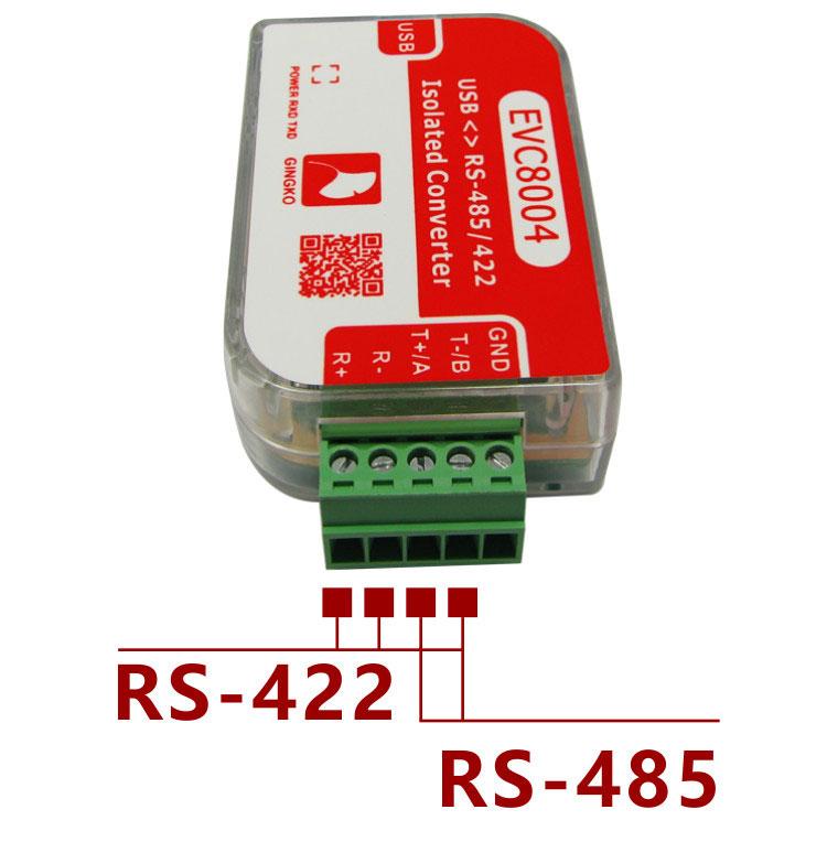 EVC8004 USB RS485 RS422 izolowany z izolacją ADI 1500Vrms gingko