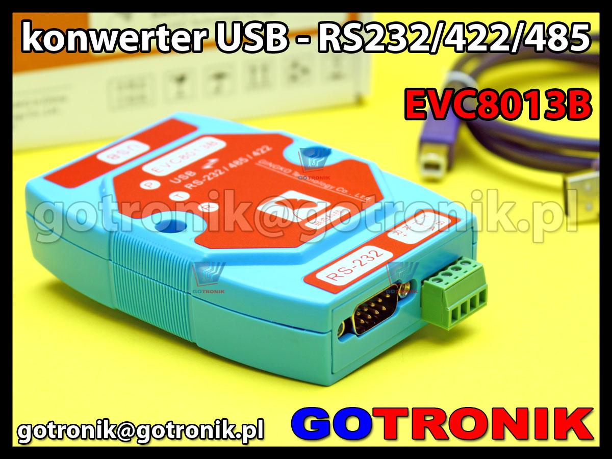 EVC8013B- konwerter z USB na RS485/RS422/RS232 z izolacją
