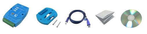 EVC8014 konwerter izolowany USB na RS232 RS485 RS422 TTL Gingko
