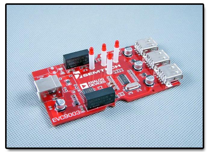 EVC9003 - 3 portowy hub USB z izolacją magnetyczną