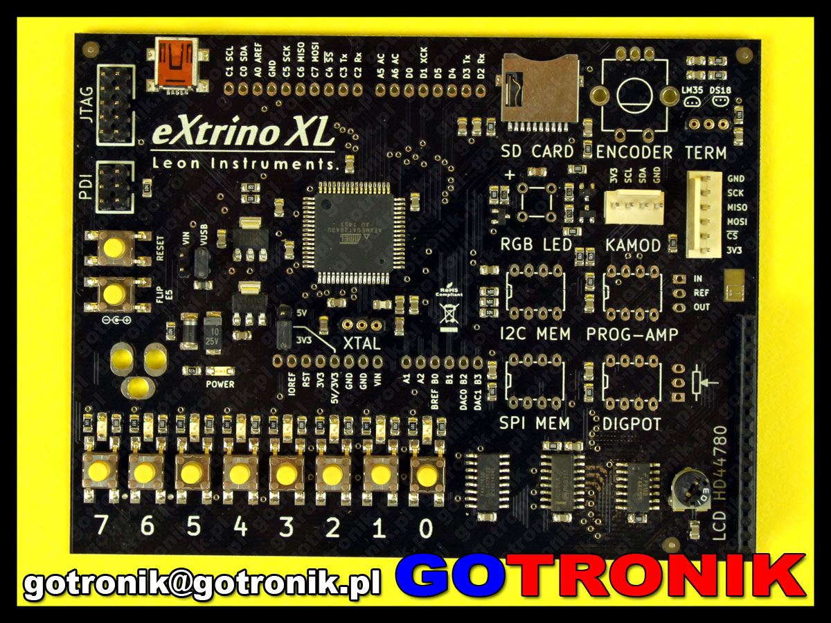 eXtrino XL SMD moduł XMEGA ATxmega kompatybilny z Arduino