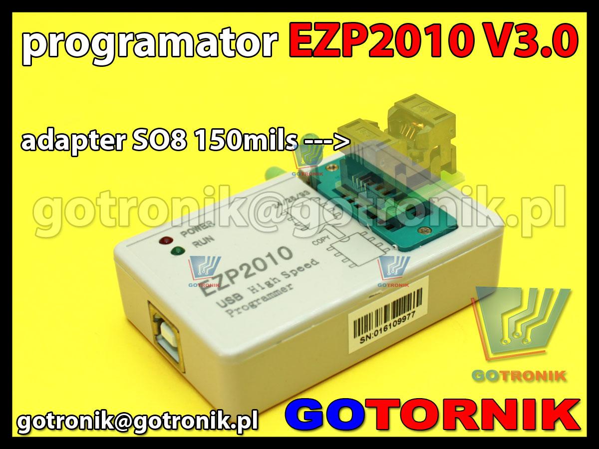 EZP2010 V3.0 programator USB 2.0 do pamięci szeregowych SPI, I2C, 24Cxx, 93Cxx, MicroWire, 25xxxx