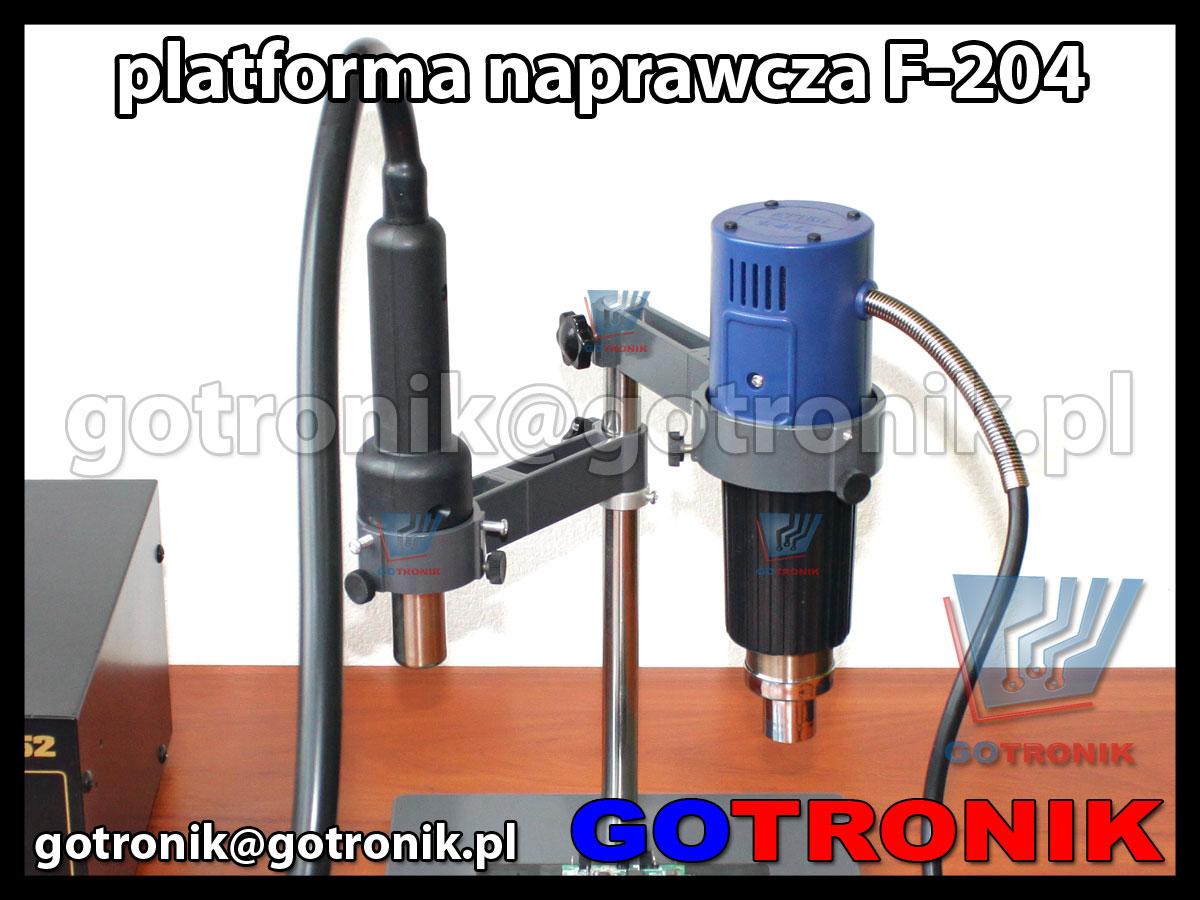 Platforma naprawcza F-204 z uchwytem do płytek PCB + statyw do kolby HOT-AIR