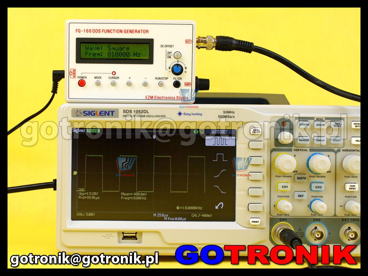 Generator funkcyjny FG-100 DDS 1Hz - 500kHz ezm electronics studio