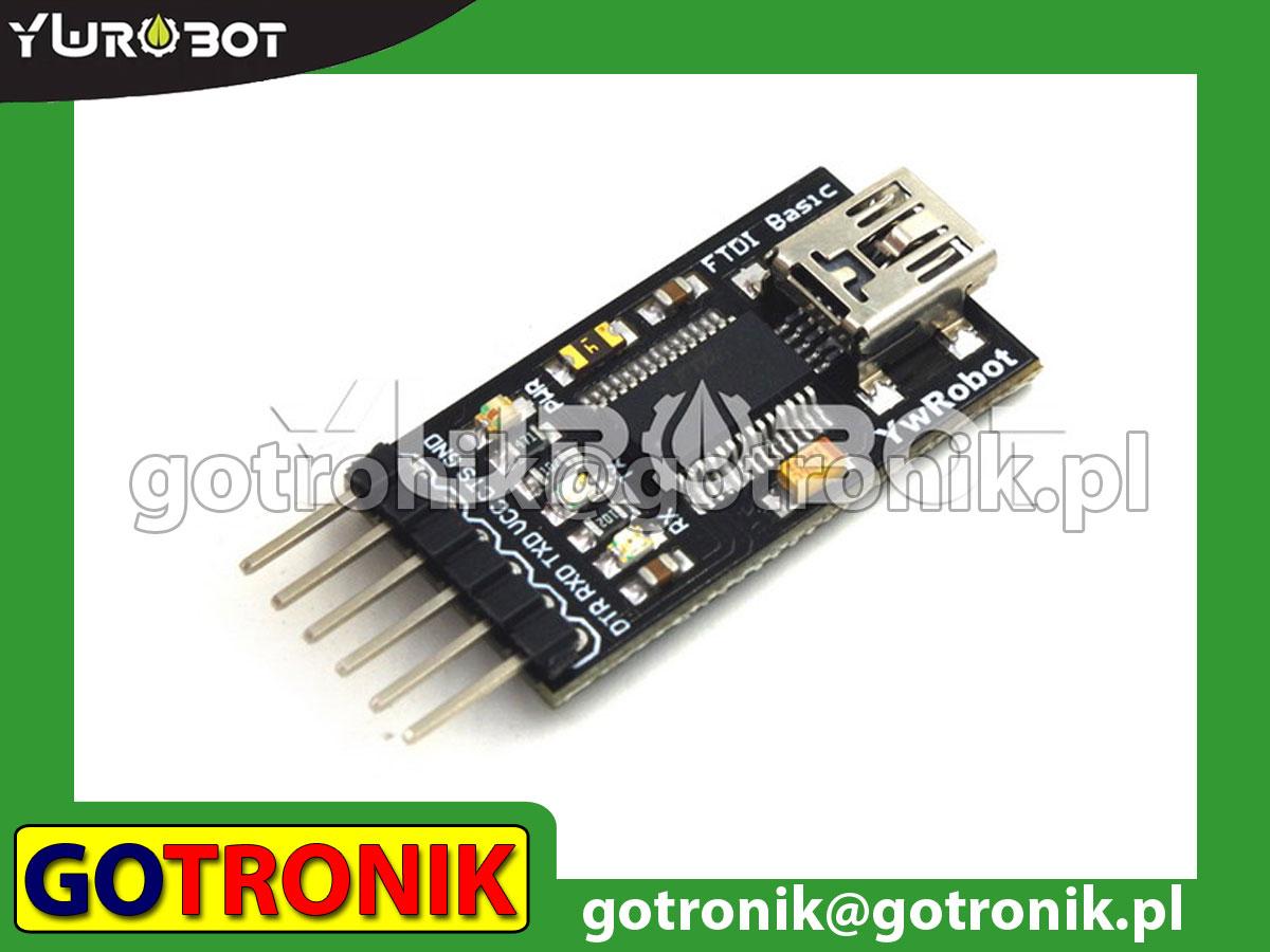 Konwerter USB - RS232 TTL układ FTDI FT232RL wersja mini