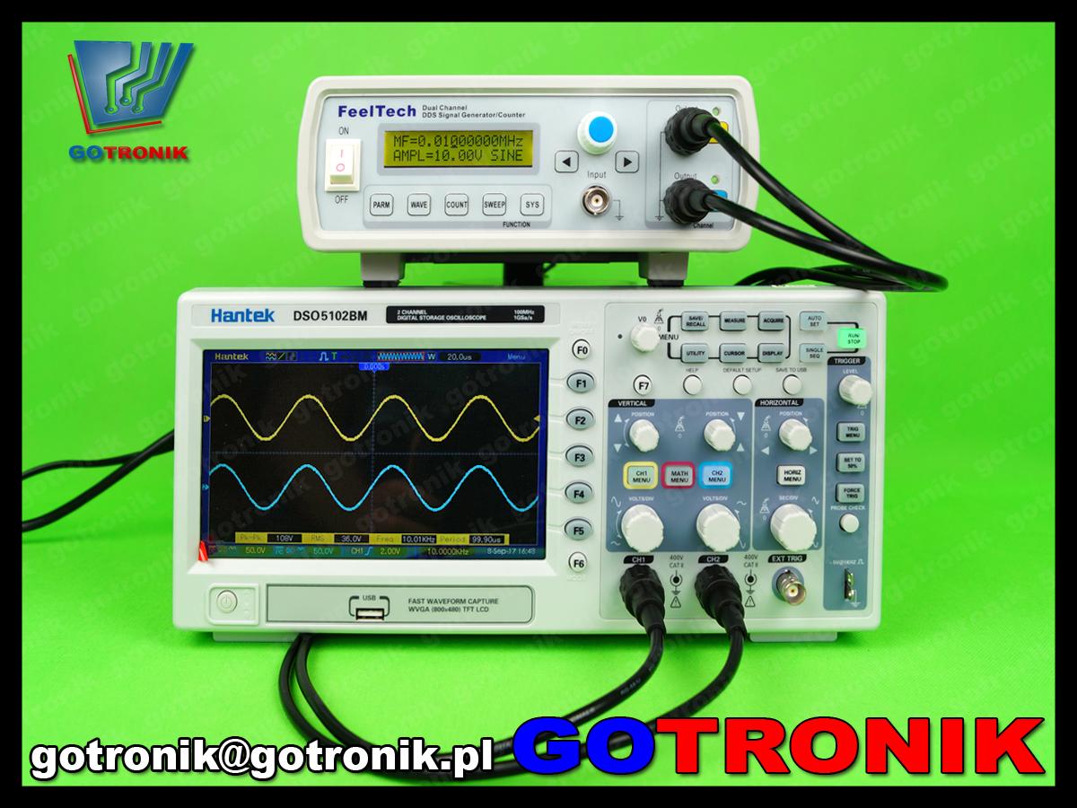 FY3212S Feeltech FY3200S generator funkcyjny arbitralny stołowy laboratoryjny DDS dwukanałowy, miernik częstotliwości 100MHz