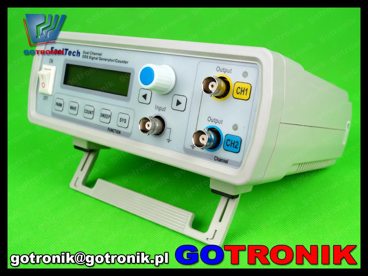 FY3224S Feeltech FY3200S generator funkcyjny arbitralny stołowy laboratoryjny DDS dwukanałowy, miernik częstotliwości 100MHz