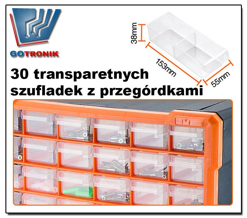 Regał z szufladkami magazynowymi G-1501