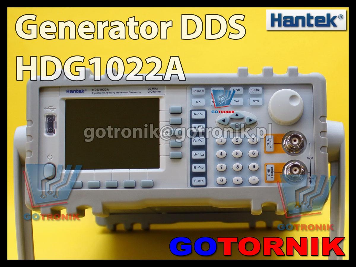 Generator funkcyjny arbitralny DDS HDG1022A Hantek
