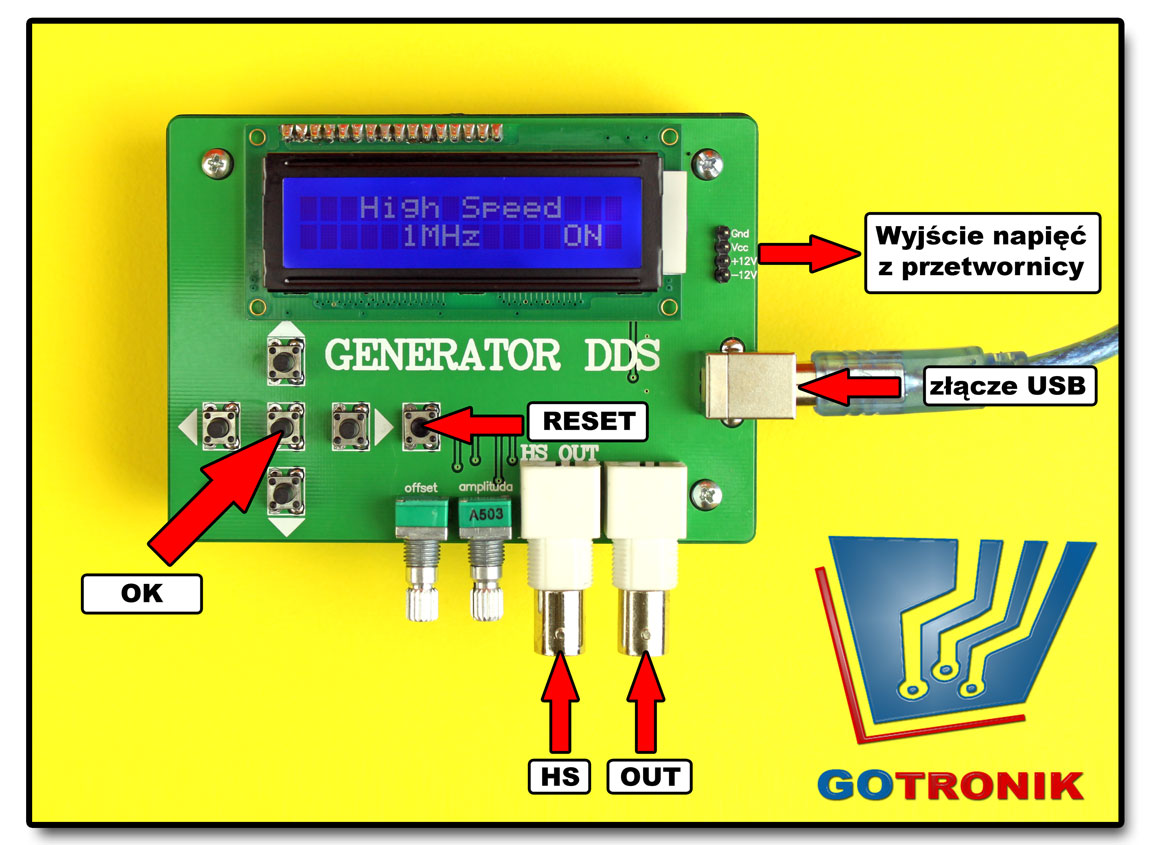 Generator sygnałowy funkcyjny DDS - opis