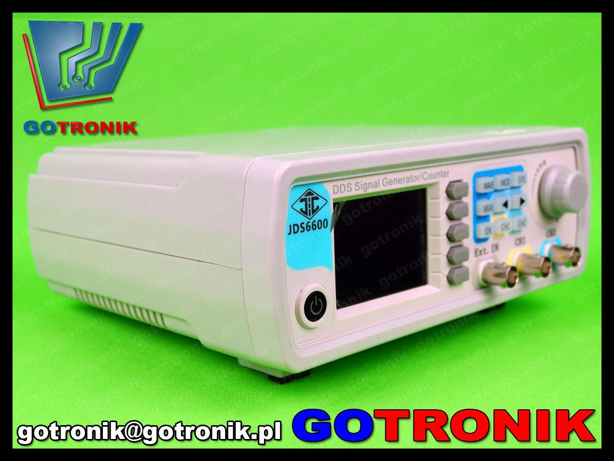 generator funkcyjny DDS dwukanałowy JDS6600 z kolorowym wyświetlaczem LCD TFT