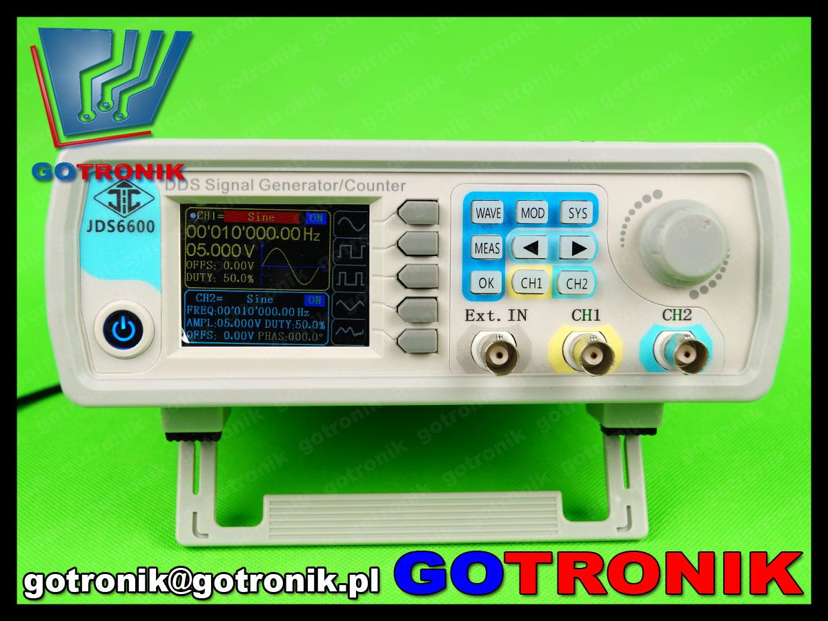 generator funkcyjny JDS6600 z miernikiem częstotliwości