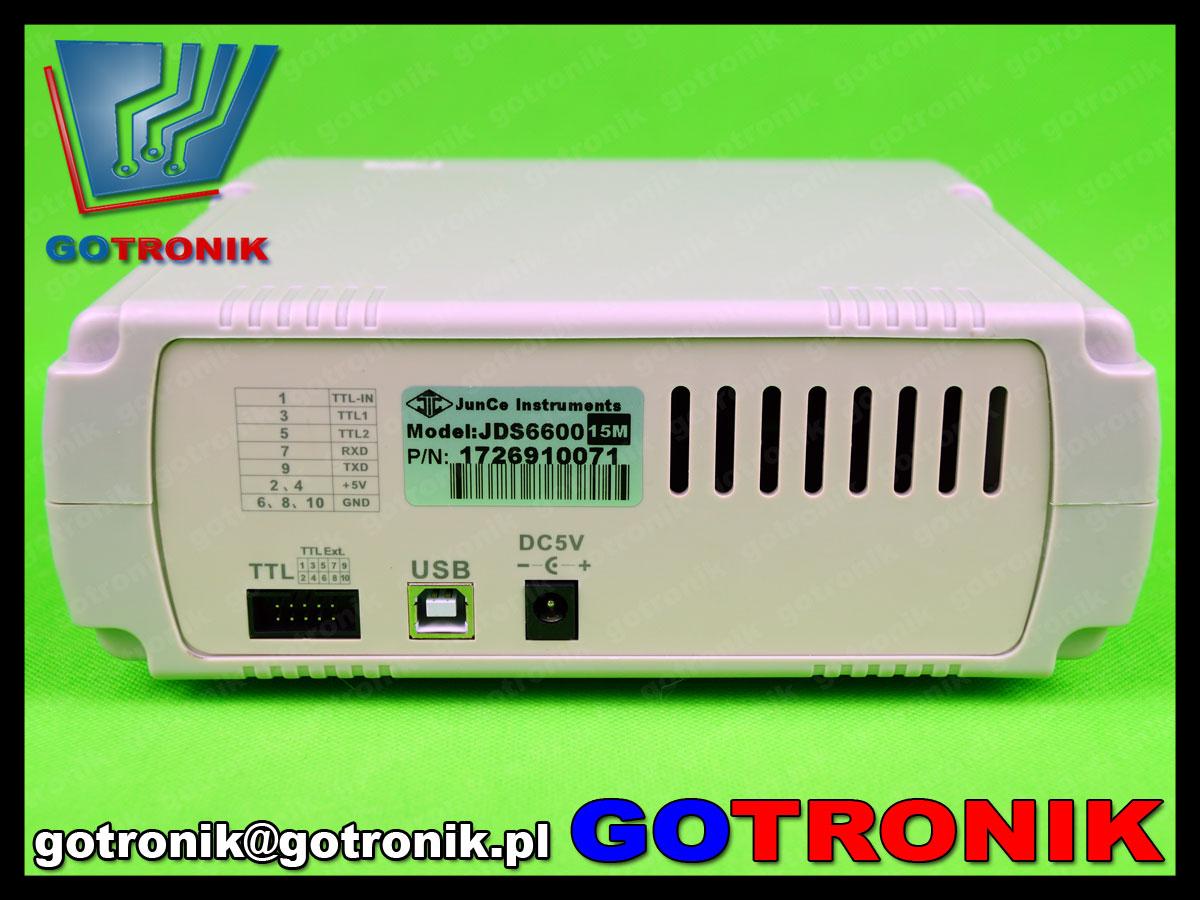 generator funkcyjny JDS6600 z licznikiem częstotliwości
