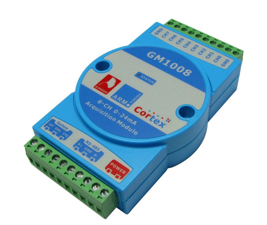 GM1008 moduł pomiarowy prądu 8 kanałów 0-24mA RS485 izolowany karta pomiarowa gingko